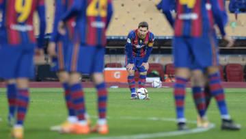 Messi terminó expulsado en la final perdida por el FC Barcelona