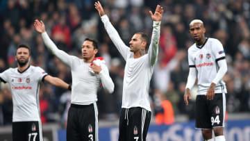 Monaco maçı sonrasında Beşiktaş oyuncularının sevinci