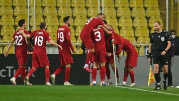 A Milli Takımımız'ın gol sevinci