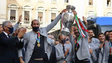 La Squadra Azzurra a eu le droit à un très bel accueil pour son retour en Italie.