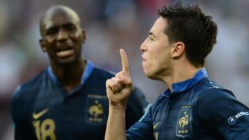 La célèbre célébration de Samir Nasri lors de l'Euro 2012.