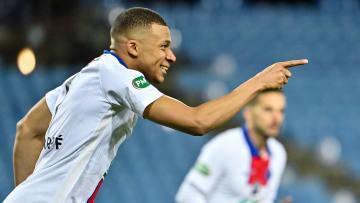 Kylian Mbappé a inscrit un doublé contre Montpellier en demi-finale de la Coupe de France ce mercredi.