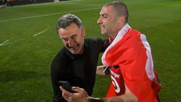 Christophe Galtier et Burak Yilmaz ont mené Lille sur le toit de la Ligue 1 la saison passée.
