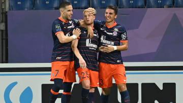 Joueurs montpelliérains lors du match Montpellier-Bordeaux