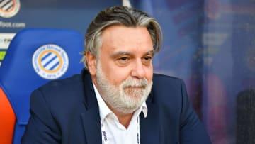 Laurent Nicollin, président de Montpellier, faisait partie des dirigeants du foot français participant à la réunion avec le Gouvernement