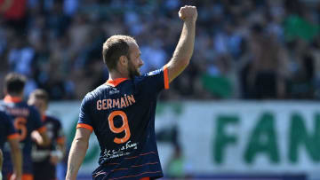 valere Germain avec Montpellier cette saison