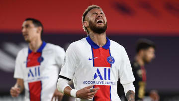 Neymar et ses coéquipiers n'ont pu faire mieux qu'un nul contre Rennes.