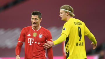 The two strikers shone for their sides in Der Klassiker