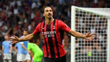L'esultanza di Ibrahimovic dopo il goal del raddoppio
