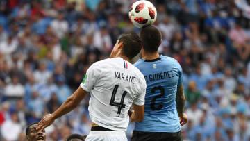 Varane y Giménez en el último Mundial
