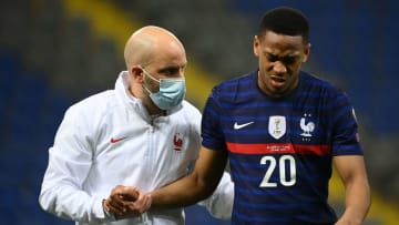 Martial limped off against Kazakhstan