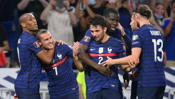 France celebrate Antoine Griezmann's second strike