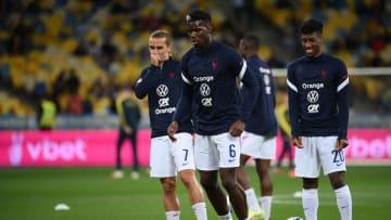 L'Equipe de France à l'entraînement