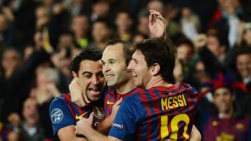 Andres Iniesta, Lionel Messi, Xavi Hernandez