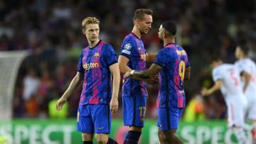 Frenkie de Jong, Luuk De Jong, Memphis Depay avec le FC Barcelone cette saison