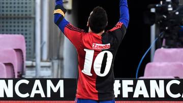 Messi con los colores de Newells