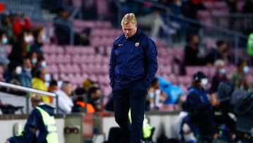Ronald Koeman on his way out of the Camp Nou