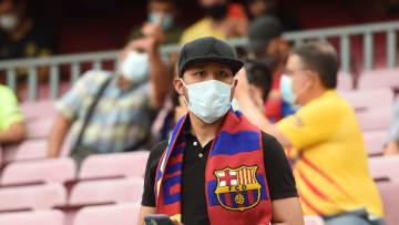 Supporters du FC Barcelone contre la Real Sociedad cette en Liga Santander