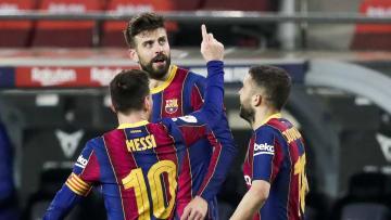Gerard Pique, Jordi Alba, Lionel Messi