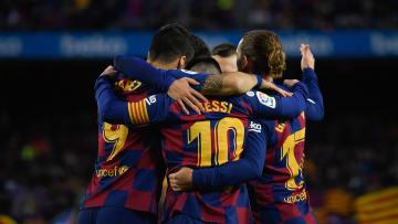 El Barça se enfrentó al Alavés en un partido de la liga