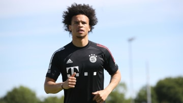 Sane expressed his delight after his first Bayern training session