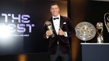 Robert Lewandowski won The Best FIFA Men's Player award