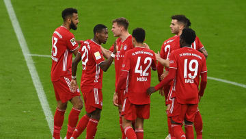 Bayern Munich celebrate a comfortable 2-0 win over Bayer Leverkusen