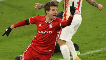Muller scored a brace vs Leipzig to ensure the match ended all square