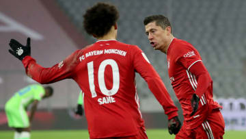 It was a night to remember for Robert Lewandowski as his double helped Bayern to a hard-fought 2-1 victory over Wolfsburg