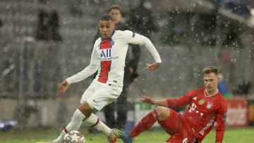 Schlechte Ausgangsposition für die Bayern: Gegen Klian Mbappé kamen die Münchner häufig zu spät.