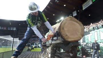 Timber Joey, mascota del equipo del Portland Timbers.