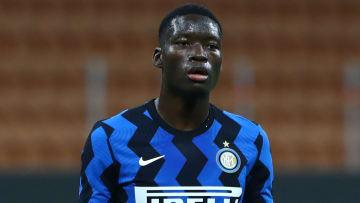 Lucien Goume sous les couleurs de l'Inter Milan.