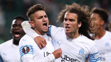 Cengiz ünder, Matteo Guendouzi avec l'Olympique de Marseille  cette saison en UEFA Europa League