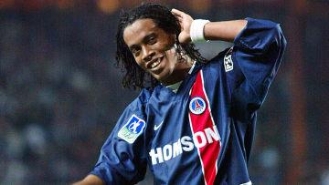 Ronaldinho lors de sa masterclass en 2003 face à l'OM.
