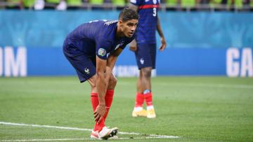 Varane en el partido en el que Francia quedó eliminada de la Eurocopa