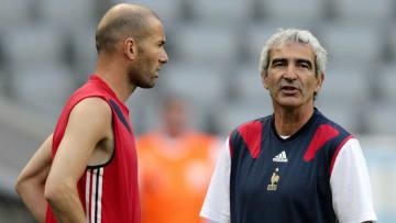 French head coach Raymond Domenech (R) s