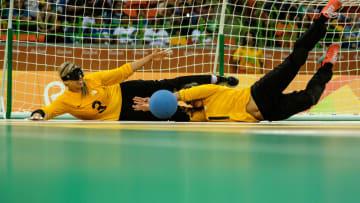 Goalball é uma das modalidades das Paralimpíadas