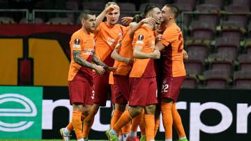 Galatasaray oyuncularının gol sevinci