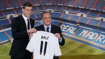 Bale en su presentación con el Real Madrid