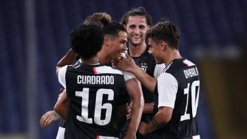 Cristiano Ronaldo, Paulo Dybala, Juan Cuadrado, Adrien Rabiot
