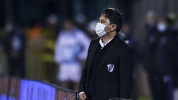 Gimnasia Esgrima La Plata v River Plate - Torneo Liga Profesional 2021 - Gallardo sigue sin conseguir el funcionamiento deseado.