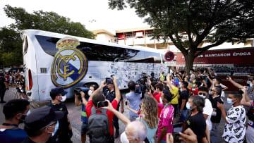 Real Madrid bus had a window broken before Liverpool tie