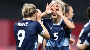 Ellen White's goals steered Team GB to an opening win at the Olympics