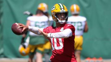 Jordan Love at Green Bay Packers Mandatory Minicamp