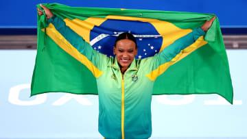 Atleta do Flamengo, Rebeca Andrade conquistou duas medalhas nos Jogos Olímpicos de Tóquio.