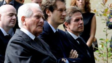 Giampiero Boniperti, John Elkann e Christian Purslow