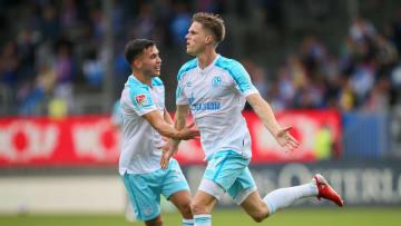 Marius Bülter erzielte seinen Debüt-Treffer für Schalke