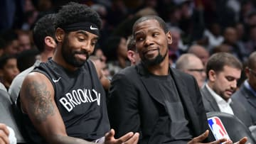 Kyrie Irving and Kevin Durant.