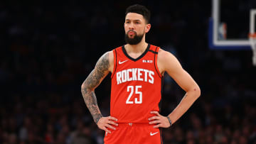 Rockets guard Austin Rivers responds to Kyrie Irving's skepticism about resuming the NBA season.