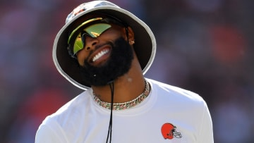 Cleveland Browns wideout Odell Beckham Jr. got in some pregame work on Sunday ahead of his 2021 debut.